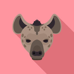 Hyena icon. Flat illustration of hyena vector icon for web design