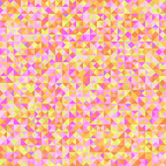 Tiled background with many triangles. Geometric bright wallpaper. Checkered mosaic texture. Seamless colorful pattern. Pretty colors. Print for flyers, posters, banners and textiles. Greeting cards