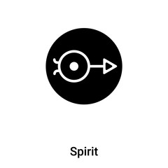 Spirit icon vector isolated on white background, logo concept of Spirit sign on transparent background, black filled symbol