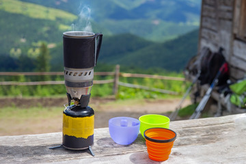 gas cooking burner for camping and picnic