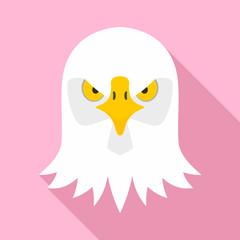 Eagle head icon. Flat illustration of eagle head vector icon for web design
