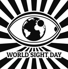 World sight day concept background. Simple illustration of world sight day vector concept background for web design isolated on white background