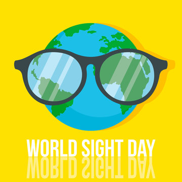 World retina day concept background. Flat illustration of world retina day vector concept background for web design