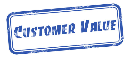 Customer value square grungy stamp Vector illustration