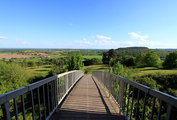 Bridge across beautiful landscape