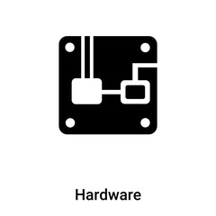 Hardware icon vector isolated on white background, logo concept of Hardware sign on transparent background, black filled symbol