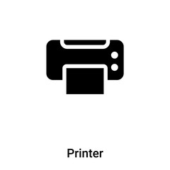 Printer icon vector isolated on white background, logo concept of Printer sign on transparent background, black filled symbol