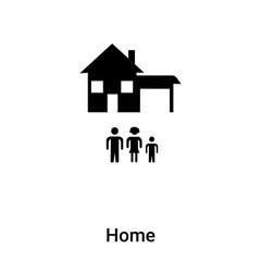 Home icon vector isolated on white background, logo concept of Home sign on transparent background, black filled symbol