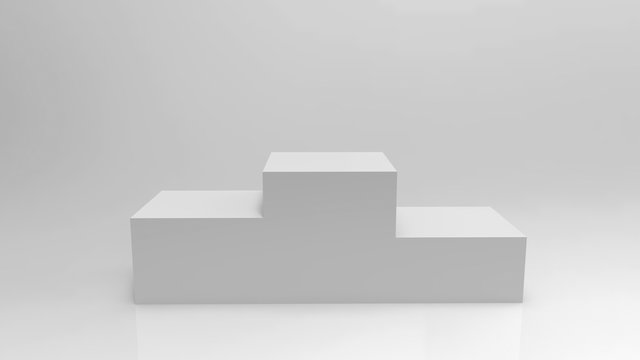 3D illustration of winners Podium