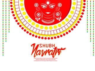 nice and beautiful abstract or poster for Navratri with nice and creative design illustration, Durga Puja, NavDurga