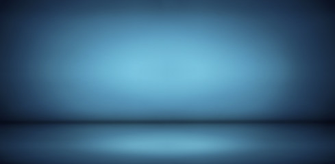 blue gradient studio and empty room background, can be used to present product