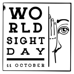 International sight day concept background. Simple illustration of international sight day vector concept background for web design