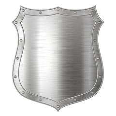 Silver Metallic Shield