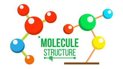 Molecule Structure Icon Vector. Dna Symbol. Medicine, Science, Chemistry, Innovative Biotechnology. Isolated Cartoon Illustration