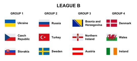 Football. 2018 2019 League B.