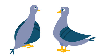 Dove Vector. Bird Pigeon. Isolated Cartoon Illustration