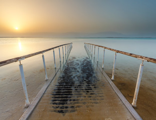 Beautiful view of the Dead Sea .