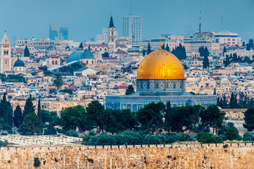 Nice panorama of the city of Jerusalem