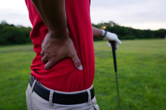 Golfers are injured back while playing golf