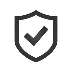 Shield check mark logo icon design template, vector illustration.