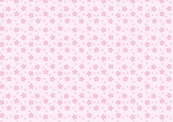 ランダムな桜の背景(ピンクバック)