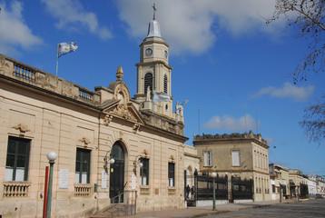 City hall  and church, San Antonio de Areco