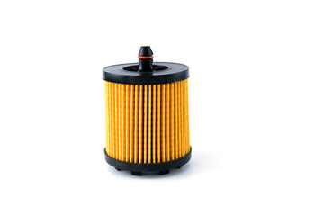 Oil , fuel or air filter for car  isolated on white background.
