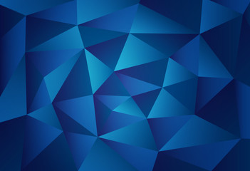 Abstract Dark Blue Triangular Polygons Pattern