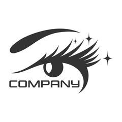 Eyelashes and the female eye logo