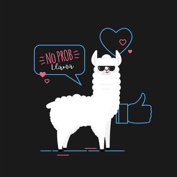 Doodle black llama