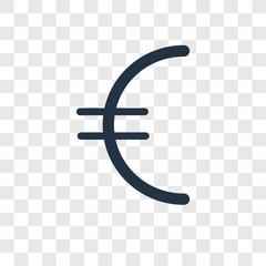Euro vector icon isolated on transparent background, Euro logo design