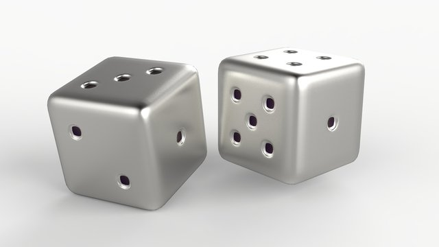 Silver Gaming dices 3d