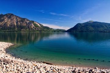 Türkisenes Ufer des Walchensees