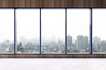 Fototapete - Contemporary interior with city view