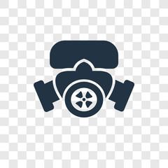 Radioactivity vector icon isolated on transparent background, Radioactivity logo design