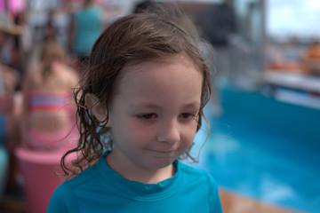 Little Kid at Pool