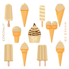 Vector illustration for natural tasty ice cream