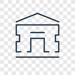 Home vector icon isolated on transparent background, Home logo design