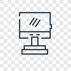 Monitor vector icon isolated on transparent background, Monitor logo design
