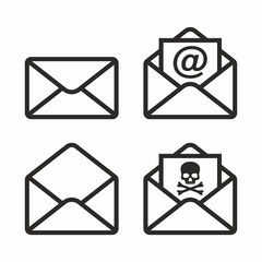 Mail vector icon set