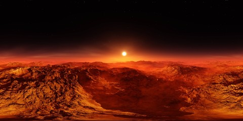 Martian landscape. HDRI . equidistant projection. Spherical panorama. panorama 360. environment map,