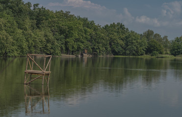Ponds in south Bohemia in summer day