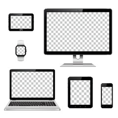 Modern technology devices with transparent wallpaper screen
