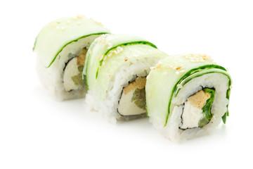 set of fresh susi isolated on white background