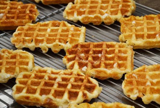 Liege waffles or Luikse wafels in Belgium