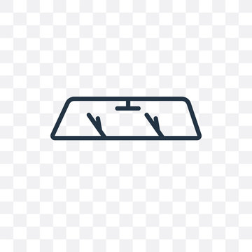 windshield icon isolated on transparent background. Simple and editable windshield icons. Modern icon vector illustration.
