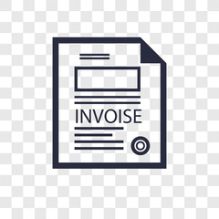 Invoice vector icon isolated on transparent background, Invoice logo design