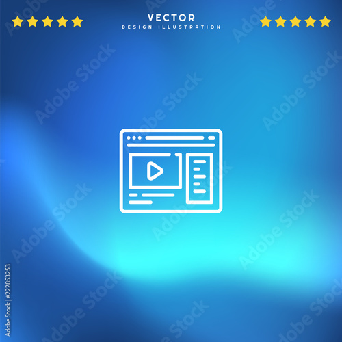 Premium Symbol Of Youtube Related Vector Line Icon Isolated On