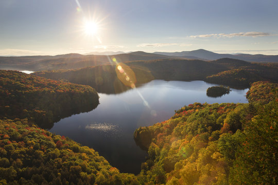 Fall Colors in New England Nichol's Ledge