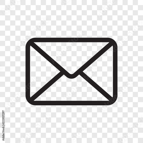 Email Envelope Icon Vector Mail Message Symbol Isolated On Transparent Background